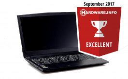 BTO Laptop X•BOOK 15CL71 - Hardware.info Excellent Award 09-2017